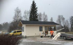 Laurin Majan rakennustyöt käynnissä.